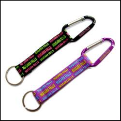 多色时尚挂绳短涤纶带爬山扣短绳
