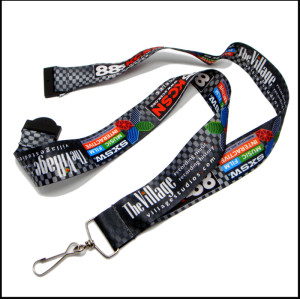 Fashion logo sublimation neck lanyards for competition gift