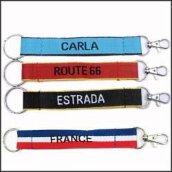 机织有名字图案涤纶钥匙短带挂绳