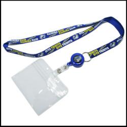 蓝色拉拉扣尼龙挂绳尼龙工作证胸卡带
