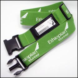 带名片夹平纹加深织法PP纱旅行箱辨认带箱包带