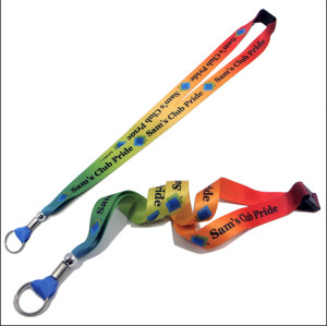 Colorful sublimation custom logo neck strap lanyards