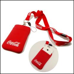 可口可乐手机包尼龙涤泷脖子挂绳