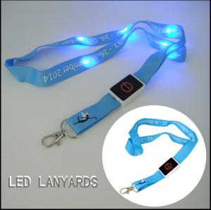 Blue led light  promotional gift neck lanyards