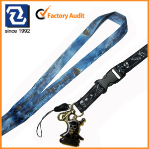 Polyester subliamtion funny logo neck lanyards for promotional gift