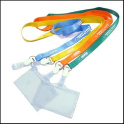 多色尼龙带塑料证件夹证件挂绳工作证胸卡带