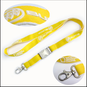 3D silicon custom logo neck lanyards for promotion gift