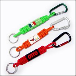 尼龙手编短带爬山扣钥匙挂绳