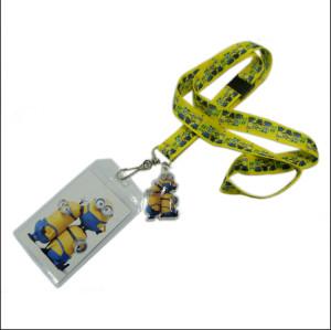 定制可爱卡通PVC套入场证件套挂带