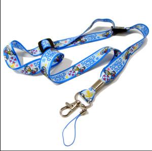 可爱迪士尼图案儿童手机挂带卡套挂绳