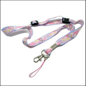 可爱女孩迪士尼儿童手机挂带卡套挂绳