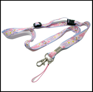 Disney cute sublimation printing logo neck strap lanyards for girl