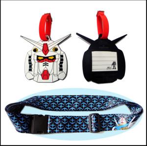 热转印动漫图案礼品套装箱包带及硅胶名字行李吊牌