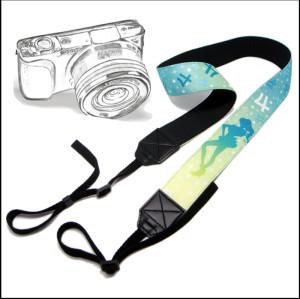 动漫周边产品纪念品背面PU皮涤泷热转印图相机带