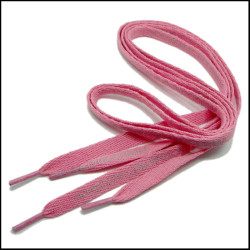 斜纹粉色涤泷印刷图案鞋带