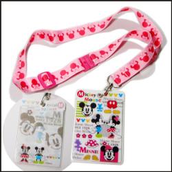 迪士尼卡通PVC卡套挂绳礼品赠品热转印可调长度挂绳