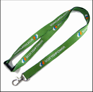 Dye sublimation print on both sides  logo lanyards for bussiness gift