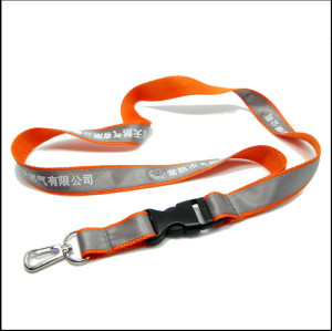 Fashion  polyester satin neck lanyard with custom fittings
