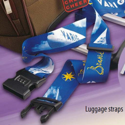 Custom logo Lock buckle polyester luggage belt for legibility