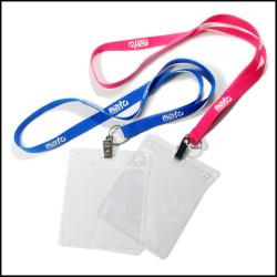 丝印挂带透明PVC证件套