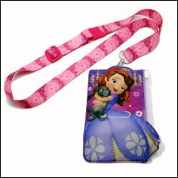 迪士尼白雪公主儿童小孩卡套挂绳