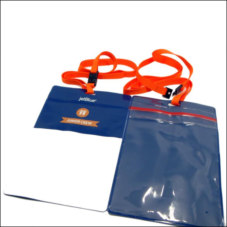 定制印刷PVC证件套图案挂绳