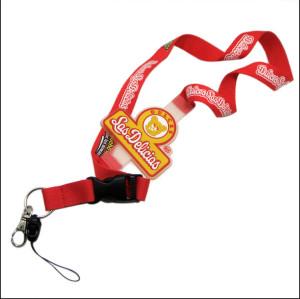 定做硅胶LOGO丝印织带挂绳