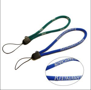10cm高弹纱蓝色电脑提花手机绳钥匙手腕挂绳