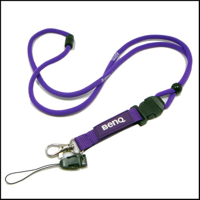 高弹纱柔软舒适安全扣圆绳织带厂牌挂带