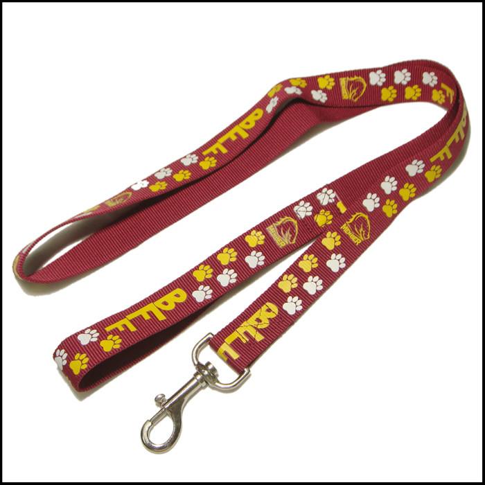 可爱狗脚印图案加厚加固狗狗牵引绳遛狗绳
