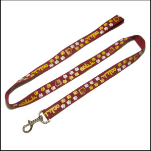 可爱狗脚印图案加厚加固狗狗牵引绳遛狗绳宠物带
