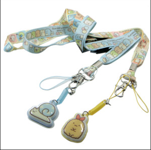 热转印可爱小熊图案涤纶挂带手机擦吊带挂绳
