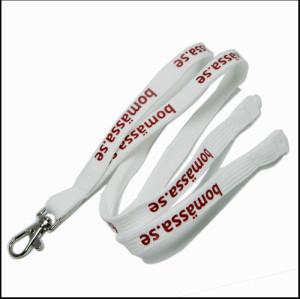 白色简约涤纶PK带可定制LOGO挂绳织带厂牌带