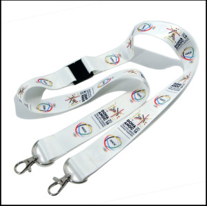 Activity pass name card holder two metal hook safety neck straps