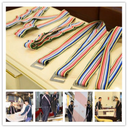 Strong polyester and metal hook straps for conveying belt video