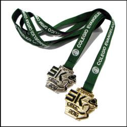 定制奖杯吊带奖章证书绳子胸牌展会授带奖牌