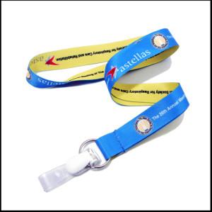 双面热转印带夹扣学生证件套挂绳厂牌带证件套带