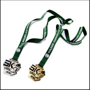 Custom trophy badges award rope sling medal neck strap