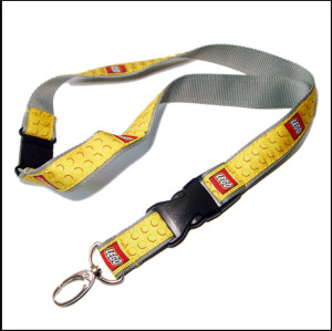 Color not come off Flat woven logo customized yellow satin polyester lanyards