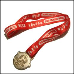 红色热转印运动会马拉松各项比赛奖牌奖带