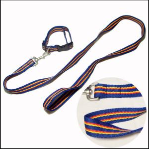 经典彩虹条纹宠物牵引绳遛狗带宠物带