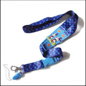 带卡通图案硅胶热转印吊带学生证件套带