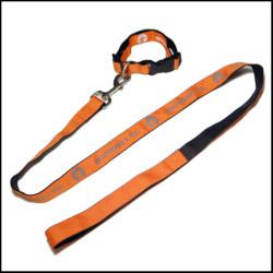 双面不同色反光丝印logo狗狗牵引绳宠物带遛狗带