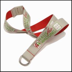双面不同色可定制丝印logo厂牌带证件套带展会挂绳