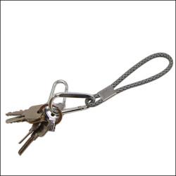 加固加粗提花反光条纹爬山钩锁匙扣手机挂绳