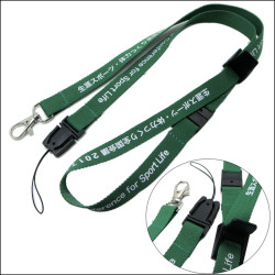 Different accessories with both ends good quality printed card neck hung lanyards