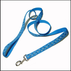 碎花丝印织唛带加厚平纹狗狗牵引绳宠物带宠物脖圈遛狗绳