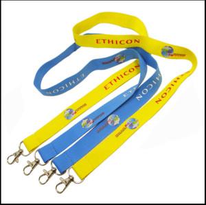 多色丝印logo双头狗扣证件套挂绳护照袋吊带