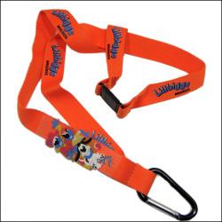 专业可定制带硅胶涤纶爬山钩带证件套挂绳
