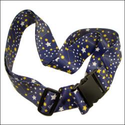 蓝色星空热转印涤纶箱包带行李打包带十字捆绑带